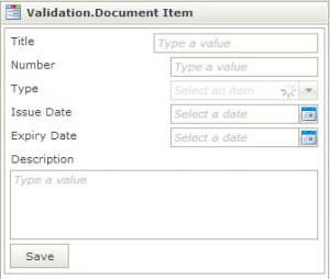 validation input with k2 smartforms