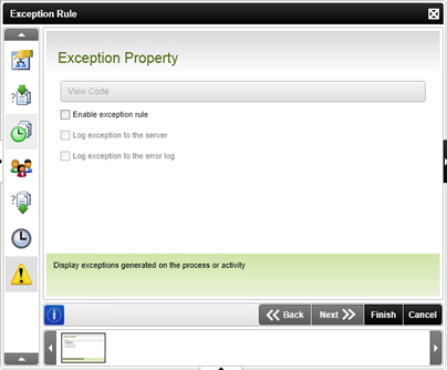 Figure 4 - Exception Rule