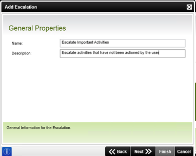 Figure 6 - General Properties screen