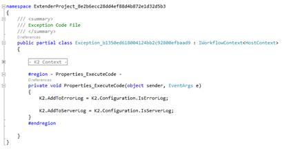 Figure 8 - Code behind