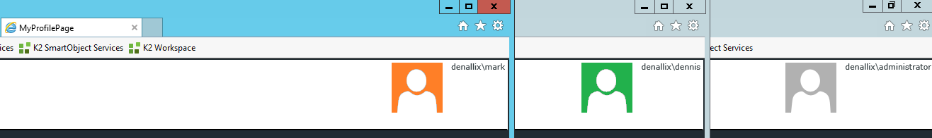 7 - Various User Profile Pictures based on the User Login Name
