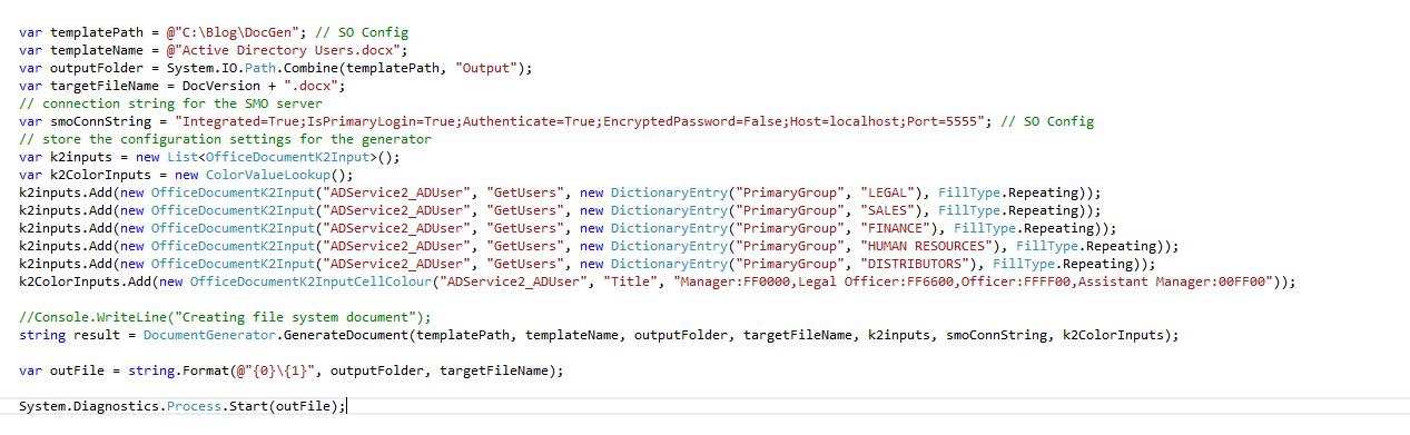 3 Document Generation Code