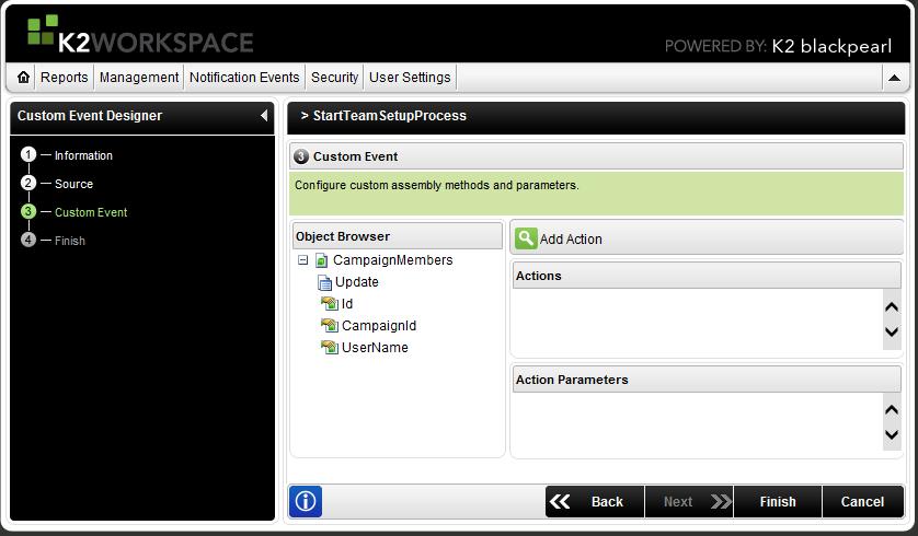 K2 blackpearl Process-Start from Object-Update in K2 Custom Event Designer