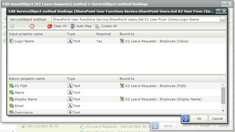 K2 Appit - Map Add New Employee Properties to SmartObject mehod