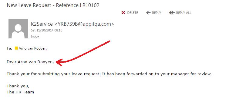 K2 Appit - User Name value renders K2 FQN - Email setupc