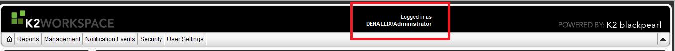 K2 SmartForms - Display Users Name - Workspace example
