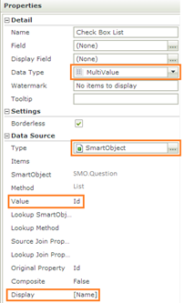 K2 SmartForms CheckBox List - Saving & Loading Data - CheckBox List Properties - 2