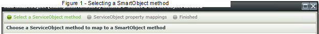 Figure 7 - Selecting a SmartObject method