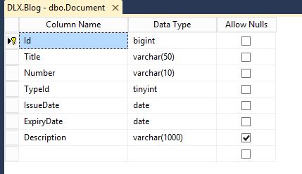 K2 SmartForm Client Validation - Image 1 SQL table to not allow NULL values.
