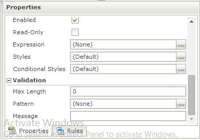 K2 SmartForm Client Validation - Image 10 Max length and validation using a regular expression pattern