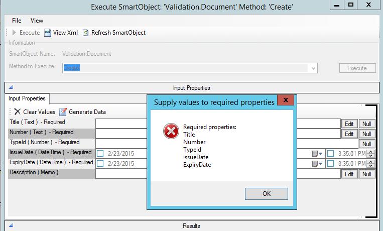 K2 SmartForm Client Validation - Image 3 K2 SmartObject Tester