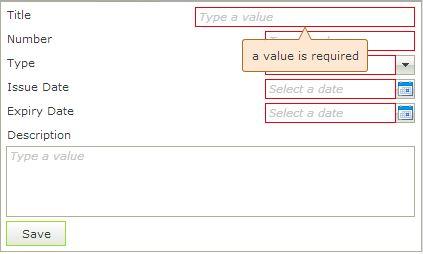K2 SmartForm Client Validation - Image 9 A user friendly K2 SmartForm validation message