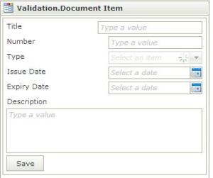 Validate input with K2 SmartForms