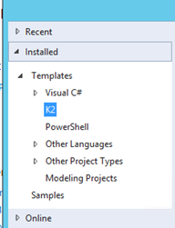 2 - K2 for Visual Studio New K2 project