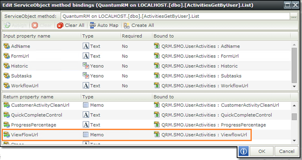K2 SmartForms ListView Hyperlinks - ServiceObject Method Bindings - 2
