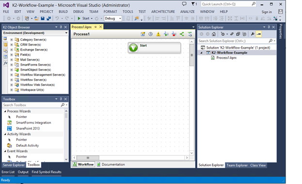 5 - K2 for Visual Studio - Design Canvas