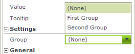 Figure 6 - Setting the Group property of the Radio Button