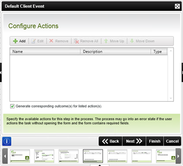 Figure 7 - Configure Actions