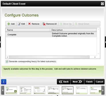 Figure 9 - Configure Outcomes
