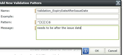 Image 10 - Complex Client Side Validation - Adding the regular expression