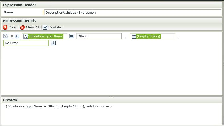 Image 12 - Complex Client Side Validation - Configuring the expression