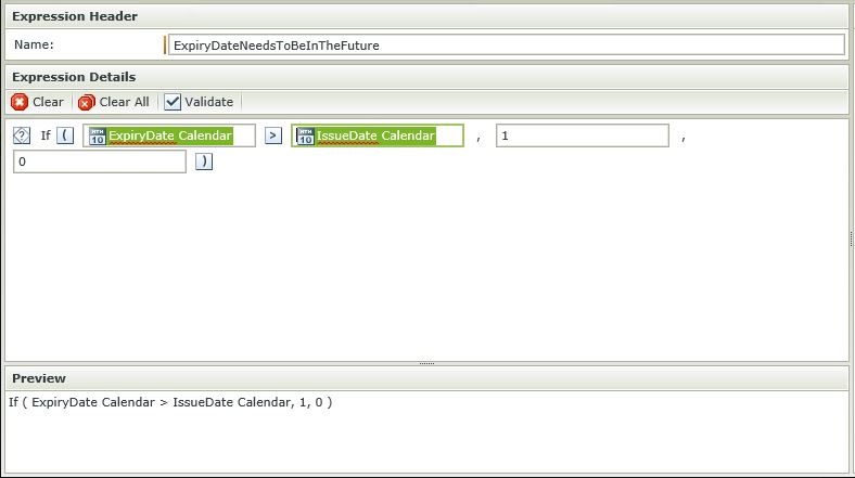 Image 9 - Complex Client Side Validation - Configuring the expression