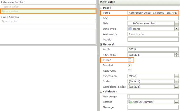 K2 SmartForms TextArea Visibility - K2 SmartForms TextBox Properties - 8