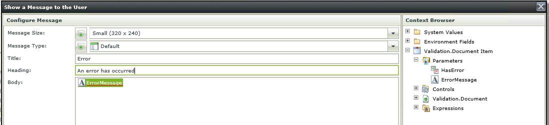 11 K2 SmartForms Server Validation - K2 Validation Messagebox