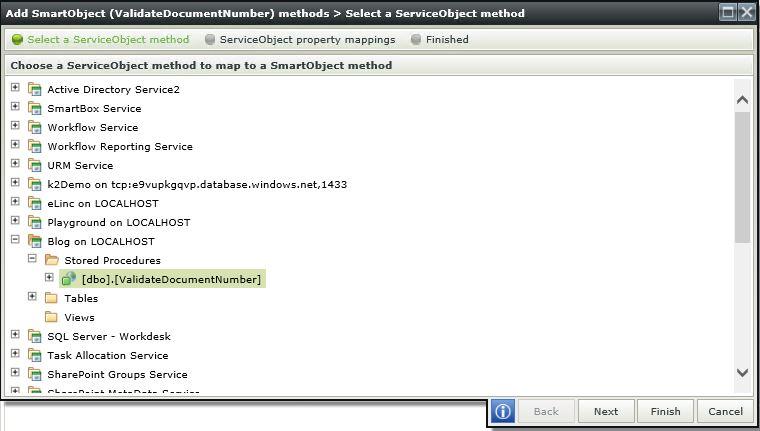 4 K2 SmartForms Server Validation - K2 Service Object Method Mapping