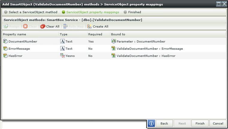 5 K2 SmartForms Server Validation - K2 Service Object Properties Mapping