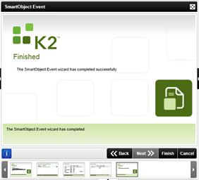 Figure 11 - Finalizing the Smart Object Event