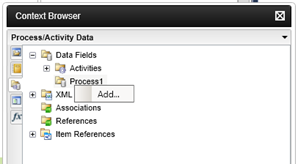 k2 process data fields - Figure 2 – Opening the Add Data Field dialog