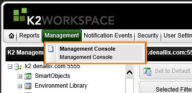 K2 Management Console - 1
