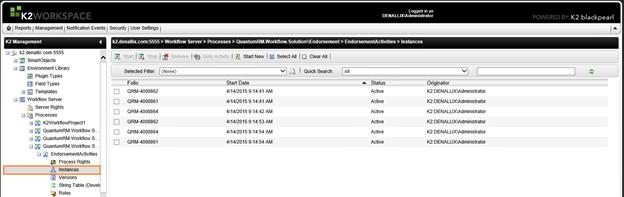 K2 Management Console - Worklist - 9