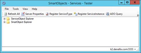 Figure 2 - SmartObject Services Tester