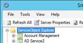 Figure 3 - Service Object Explorer