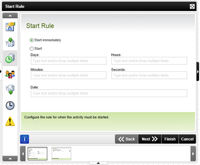 Figure 4 - Start Rule tab