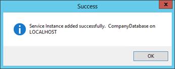 Figure 7 - Success Message