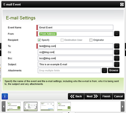 Figure 4 - Email Settings