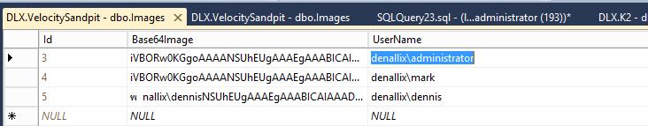 2 - Insert Base 64 Profile Images for each User