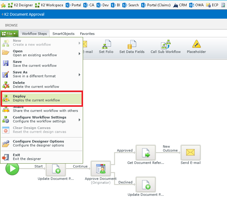 9 - K2 for SharePoint workflow deployment