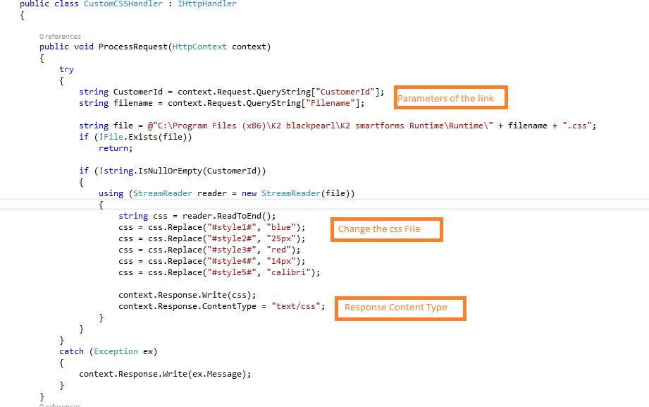 css generic handler in k2 smartforms