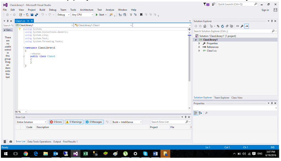 K2 for Visual Studio - New Class Library Code