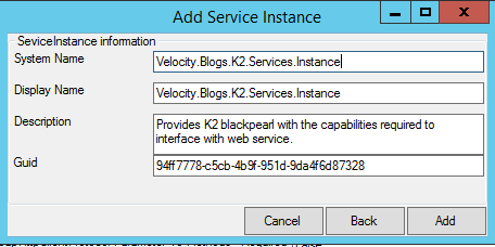 Service Type Instance