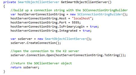02 - K2 SmartObject Client Server Connection