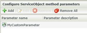 04 - Custom ServiceObject Method Parameters