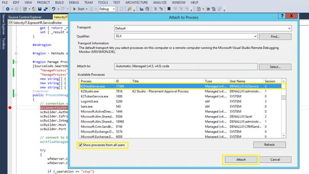 3 - Attach to K2 Host Server