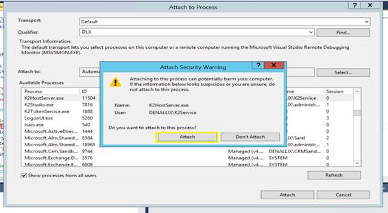 4 - Attach to K2 Host Server