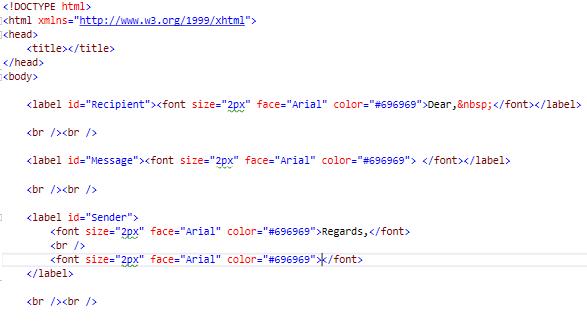3 - Define HTML Template