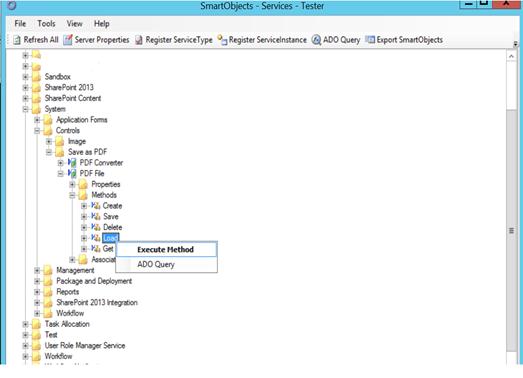 4 - Execute the PDF K2 SmartObject